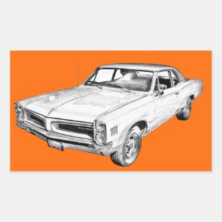 1966 Pontiac Lemans Car Illustration Stickers