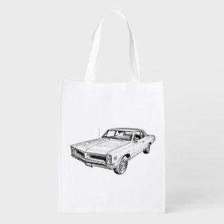 1966 Pontiac Lemans Muscle Car Illustration