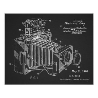 1966 Vintage Camera Patent Art Drawing Print