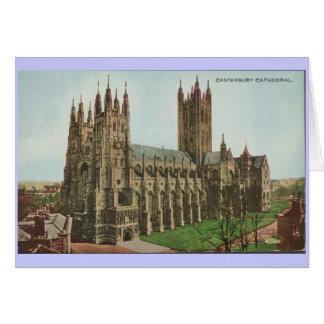 1966 Vintage Postcard Canterbury Cathedral Greeting Card