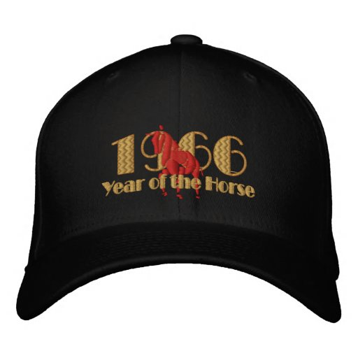 1966 year of the Horse - Cool 66 cap Embroidered Hat
