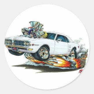 1967-68 Firebird White Car Sticker