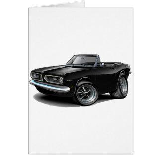 1967-69 Barracuda Black Convertible Greeting Card