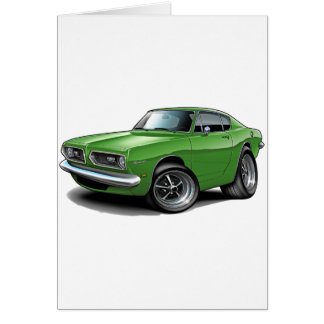 1967-69 Barracuda Green Car Greeting Card