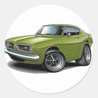 1967-69 Barracuda Ivy Car Round Sticker