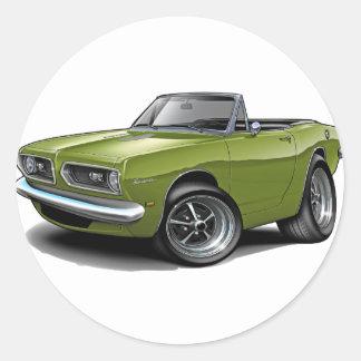 1967-69 Barracuda Ivy Convertible Round Sticker