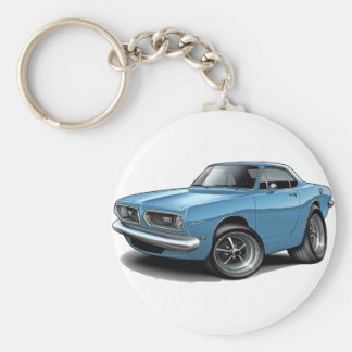 1967-69 Barracuda Lt Blue Coupe Basic Round Button Key Ring