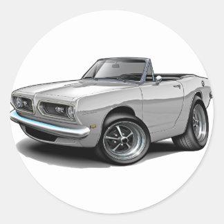 1967-69 Barracuda White Convertible Round Sticker