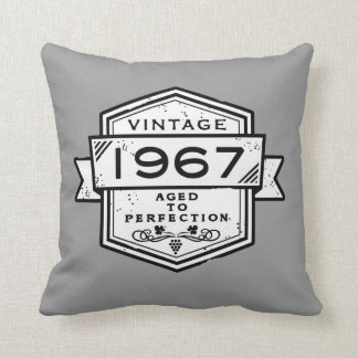 1967 Aged To Perfection Throw Pillow