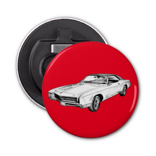 1967 Buick Riviera Classic Car Illustration Bottle Opener