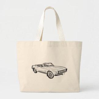 1967 Camaro muscle Car Illustration Jumbo Tote Bag