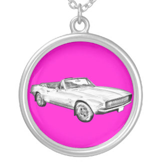 1967 Camaro muscle Car Illustration Custom Necklace