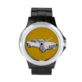 1967 Camaro muscle Car Illustration Wristwatches