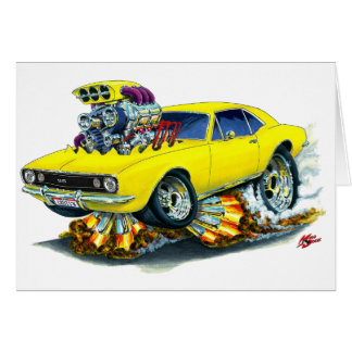 1967 Camaro SS Yellow Car Card