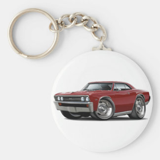 1967 Chevelle Maroon Car Basic Round Button Key Ring