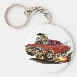 1967 Chevelle Maroon Car Key Ring
