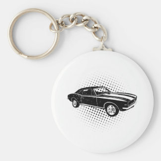 1967 Chevrolet Camaro SS 396 Basic Round Button Key Ring