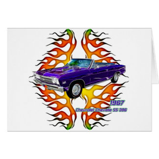 1967 Chevy Chevelle by Fractal Tees(TM) Greeting Card