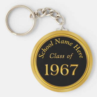 1967 Class Reunion Gifts PERSONALIZED Your COLORS Key Ring