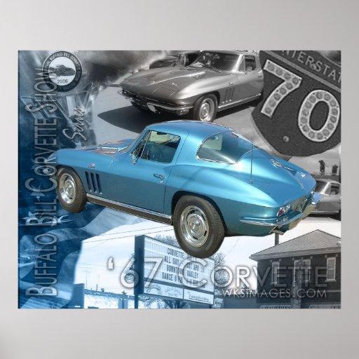 1967 Corvette-Buffalo Bill Corvette Show  Poster