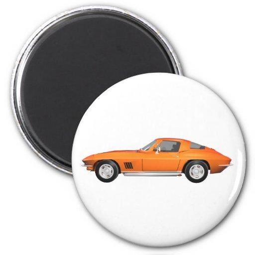 1967 Corvette Sports Car: Orange Finish Magnets