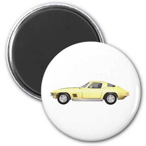 1967 Corvette Sports Car: Yellow Finish Magnet