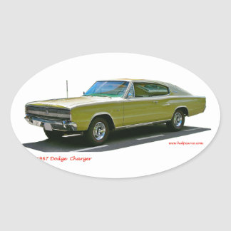 1967_Dodge_Charger Oval Sticker