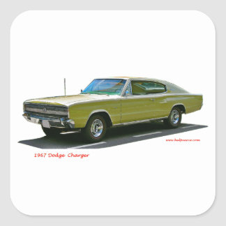 1967_Dodge_Charger Square Stickers