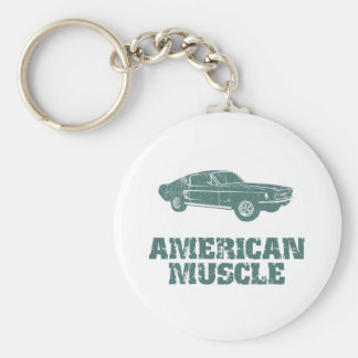 1967 Ford Mustang Fastback Basic Round Button Key Ring