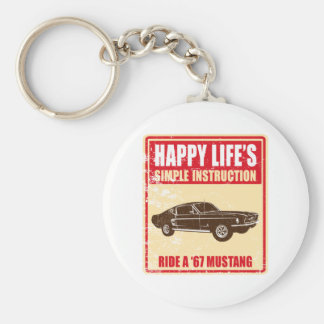 1967 Ford Mustang Fastback Key Chains