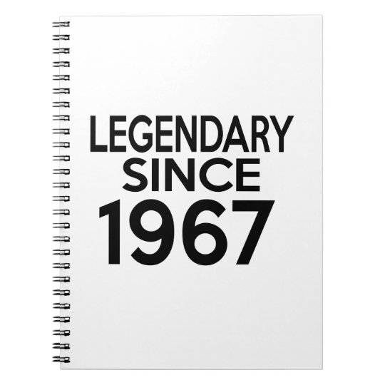 1967 Legendary Birthday Notebooks