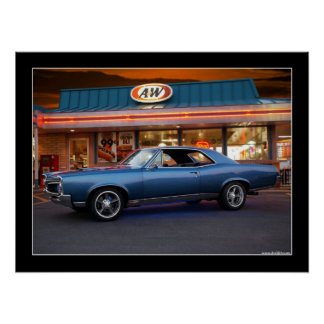 1967 Pontiac GTO Muscle Car Drive-In Poster