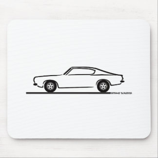 1968 1969 Plymouth Barracuda Mouse Mat