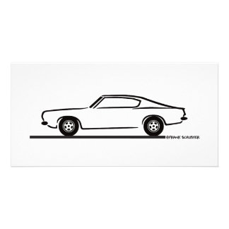 1968 1969 Plymouth Barracuda Photo Card