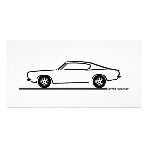 1968 1969 Plymouth Barracuda Personalized Photo Card