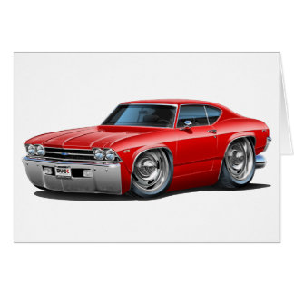 1968-69 Chevelle Red Car Card
