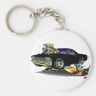 1968-69 El Camino Black Truck Basic Round Button Key Ring
