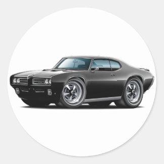 1968-69 GTO Black Car Round Sticker