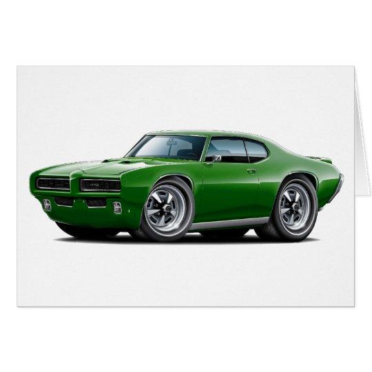 1968-69 GTO Dk Green Car Card
