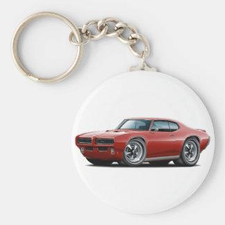 1968-69 GTO Maroon Car Basic Round Button Key Ring
