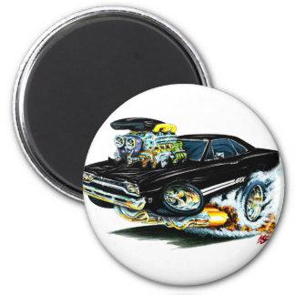 1968-69 Plymouth GTX Black Car 6 Cm Round Magnet