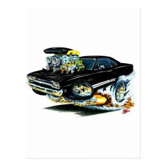 1968-69 Plymouth GTX Black Car Postcard