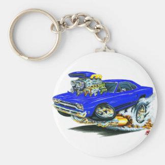 1968-69 Plymouth GTX Blue Car Basic Round Button Key Ring