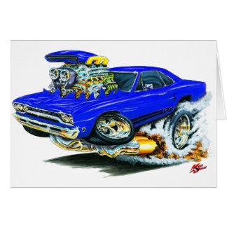 1968-69 Plymouth GTX Blue Car Card