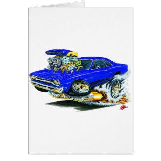 1968-69 Plymouth GTX Blue Car Greeting Card