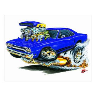 1968-69 Plymouth GTX Blue Car Postcard