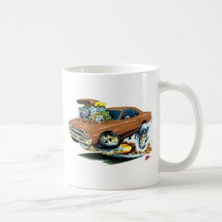 1968-69 Plymouth GTX Brown Car Basic White Mug