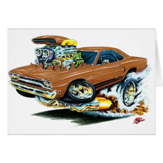 1968-69 Plymouth GTX Brown Car Greeting Cards