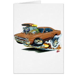 1968-69 Plymouth GTX Brown Car Card