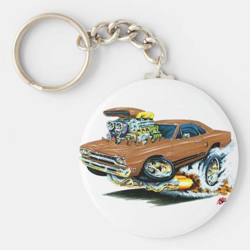 1968-69 Plymouth GTX Brown Car Keychains